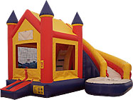 Castle Curve Wet/Dry Inflatable Bounce House Slide Combo