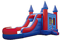 Castle Flat Roof Inflatable Bounce House Slide Combo