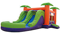 Paradise 2 Lane Wet/Dry Inflatable Bounce House Slide Combo