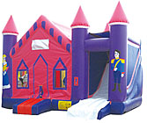 Princess V Roof  4N1 Inflatable Bounce House Slide Combo