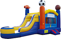 Sports Inflatable Bounce House Slide Combo