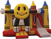 Happy Face 4N1 Inflatable Bounce House Slide Combo