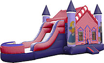 Princess V Roof Inflatable Bounce House Slide Combo