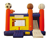 Sports 4N1 Inflatable Bounce House Slide Combo