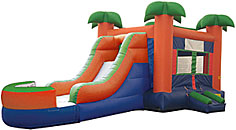 Mini Paradise Inflatable Bounce House Combo Wet/Dry
