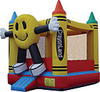 Happy Face Crayonland Inflatable Bounce House