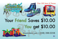 bounce house rental refer a friend coupon