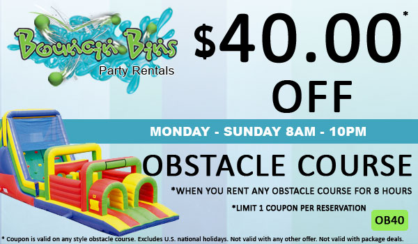 Save $40 off any Inflatable Obstacle Course rental in Tri Cities