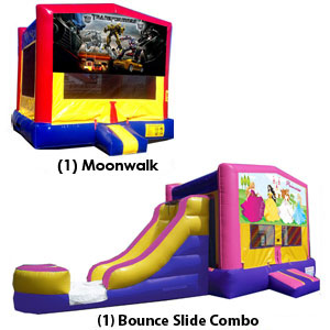 Water Slide, bounce house rentals, obstacles austin bouncin bins